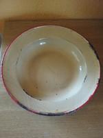 Régi jelzett zománcos tányér