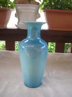 Zsolnay  kék váza    12 x  28  cm
