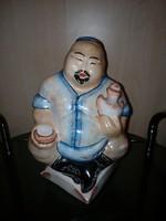 Kínai kézzel festett BUDDHA porcelán szobor
