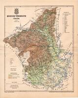 Borsod vármegye térkép 1893 (1), lexikon melléklet, Gönczy Pál, 23 x 29 cm, megye, Posner Károly