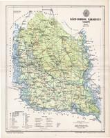 Bács Bodrog vármegye térkép 1895 (2), lexikon melléklet, Gönczy Pál, 23 x 29 cm, megye, Posner K.