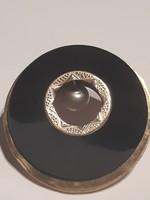 Mutatós 14 k. arany bross, 8,71 g, zománcozott, igazgyönggyel