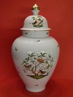 Monumentális Herendi Rothschild fedeles váza