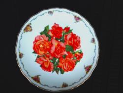 """Royal Albert """"Elisabert of Galmis""""  limitált rózsás dísztányér"""