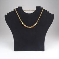 0X535 Elegáns arany színű nyakék 38 cm