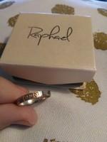 14kt arany és 925 ezüst jelzett mesterjeles gyűrű héber felirattal (ve'ahavta=szeress)