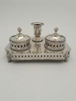 Antik ezüst tintatartó 464 g