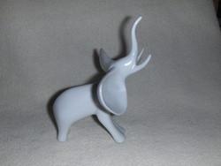 Hollóházi porcelán art deco elefánt figura (fp)