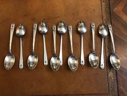 Ezüst 11 szeméyles teáskanál szettben