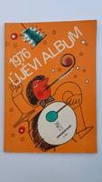 Régi újévi album kottafüzet retro kotta 1976