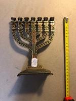 Színes festésű menóra Jerusalem felirattal