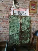 Zöld kopottas fém műhely szekrény,loft,ipari,vintage,bútor