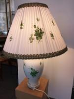 Csodaszép, új, herendi Apponyi zöld mintás lámpa, legnagyobb méretű, hibátlan