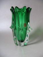 Retro, jelzett csehszlovák hutaüveg (60-70-es évek)