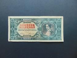 100000 milpengő 1946 Látványos nyomdahibás bankjegy !