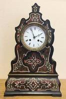 Boulle asztali /kandalló/ óra, 1800-s évek,feles ütő,