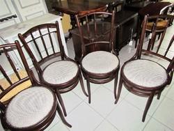 Régi parasztasztal+ 4 db thonett szék felújítva
