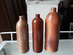 3 db régi ásványvizes palack . sérültek!!!!