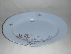 Antik jelzett porcelán kínáló tál asztalközép 23*35,5 cm (afp)