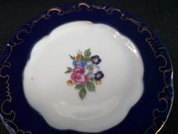 Zsolnay pompadúr mini tányér rózsás