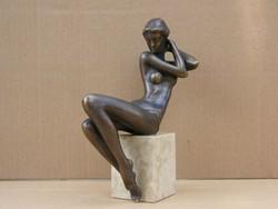Czobor Sándor Aletta c, bronz alkotás