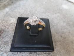 Modern brilles arany gyűrű