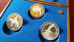 5 pcs big silver millet centimeter medal, luxurious collection, rare medal collection in gift box