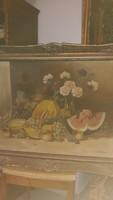 Olaj festmény   96 cm  jelzés  van   Magyar  festőtől    25000  ft