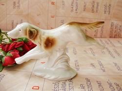 Lippelsdorf porcelán futó vadászkutya,kutya