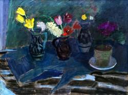 """Fáy Győző (1918- ) """" Csendélet virágokkal.. """""""