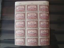 1920 8K/10K légi posta 15-ös összefügg.
