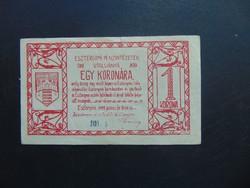 1 korona 1919 Esztergom  02