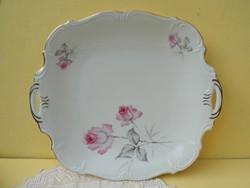 Edelstein porcelán rózsás asztalközép,kínáló.