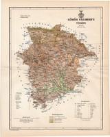 Gömör vármegye térkép 1894 (1), lexikon melléklet, Gönczy Pál, 23 x 29 cm, megye, Posner Károly