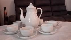 Herendi 6 személyes fehér rokály teáskészlet