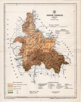 Brassó vármegye térkép 1896 (4), lexikon melléklet, Gönczy Pál, 23 x 29 cm, megye, Posner Károly