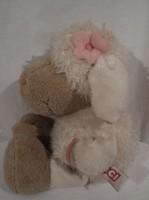 Játék -  NAGY -  NICI -  plüss - bárány - zsebes pulcsiban - cédulával - 25 x 13 cm