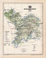 Jász - Nagykun - Szolnok vármegye térkép 1894 (2), lexikon melléklet, Gönczy Pál, 23 x 29 cm, megye