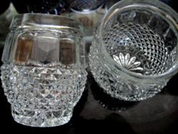 Bohemia kínáló, pohár, váza, gyertyatartó pár