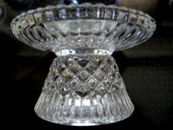 Gyémánt mintás Bohemia gyertyatartó