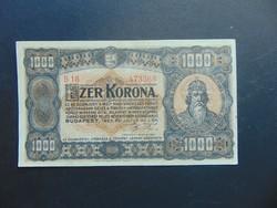 1000 korona 1923 B 18 Magyar Pénzjegynyomda RT