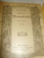 Karl Prochaska's illustrierte Monatsbände,  5 kötete, szecessziós, gót betűs