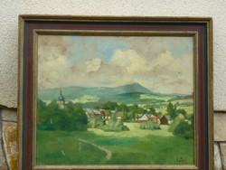 Eladó Gimes Lajos: Tájkép című olajvászon festménye