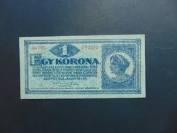 1 korona 1920 piros sorszám