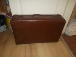 Régi nagyméretű  koffer bőrönd