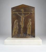 0X170 Borsos Miklós bronz kisplasztika 30 cm