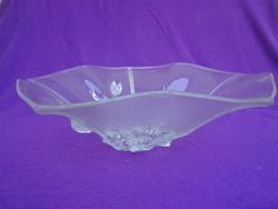 WALTHER GLAS dombor mintás üveg kínáló tál