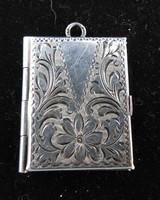Antik ezüst medál - kinyitható fényképtartó -  jelzett