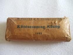Régi, 1952 -es katonai kötszer Kötéscsomag Közép