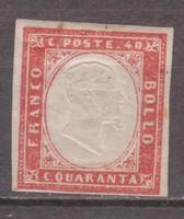 1855-63. Italien, König Viktor Emanuel II., 40 C., Mi#13a, KW. 220,-